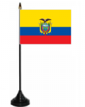 Ecuador Desk / Table Flag with plastic stand and base.
